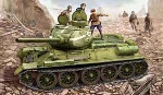 HobbyBoss 1/48 Russian T-34/85 Tank Model 1944 with Flattened Turret