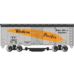 16317 Track Cleaning Car 40' Boxcar Western Pac Slvr HO