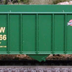 100-Ton Hopper Car, Chicago and North Western (Green) #135295