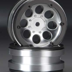 Axial 1.9 8 Hole Bradlock Satin Chrome Wheels