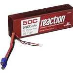 Reaction 7.4V 5000mAh 2S 50C LiPo, Hardcase: EC3