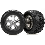 3668 Traxxas Chrome Wheel (R) w/Talon Tire (2): ST