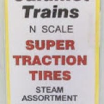 Vinyl Super Traction Tire -- Steam pkg(18)