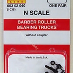 MicroTrains Barber Roller Bearing Trucks