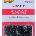 "Micro Trains 36"" Standard Whlsets 48 Axles Black"