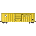 FMC 5347 Single-Door Boxcar - Ready to Run Mississippi Export #998 (yellow, black)