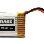 1S 3.7V 250mAh Lipo Battery; X-Fly