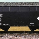 N Scale Erie Large Diamond 2Bay Offset Side Hopper #25986