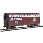 "40' PS-1 Boxcar - Ready to Run Monon #855  (brown, white, Black Ends; ""The Hoosier Line"" Slogan)"