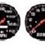1/24-1/25 Street Rod Gauges #2 (Black)