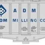 2-Bay Airslide Hopper Car, Archer Daniels Midland #53022