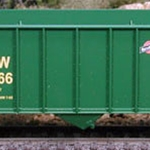100-Ton Hopper Car, Chicago and North Western (Green) #135296