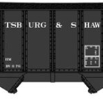 8-Panel 2-Bay Open Hopper w/Load - RTR -- Pittsburgh & Shawmut (black)
