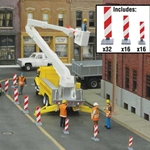 Construction Lane Markers Kit (white, red stripes)