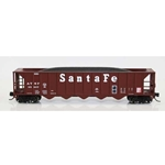 Ortner 5-Bay Rapid Discharge Hopper with Coal Load - Santa Fe
