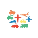 Foamies® Stickers - Planes, Trains, and Automobiles - 60 pieces