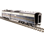 EMD E6 B-unit, B&O #58x, Blue, Gray, Black Scheme, Paragon3 Sound/DC/DCC
