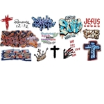 Jesus Graffiti Decals