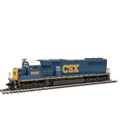 EMD SD50 - ESU(R) Sound and DCC -- CSX Transportation #8499 (blue, yellow, White Cab Roof; Small U.S. Flag)