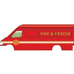 Fire and Rescue (red, white, yellow)