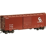 #5022 HO Scale Chesapeake and Ohio C&O #17752 - RTR 40' PS-1 Boxcar