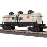30-73419 MTH Railking 3-Dome Tank Car - Mobilgas