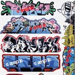 Blair Line Mega Set Modern Tagger Graffiti Decals