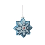 9-22063 Lionel Snowflake Blow Glass Ornament