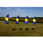 3.5 ft FPV Boundary Marker Flag(4)w/Stakes HH Logo