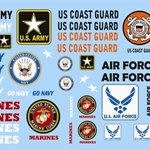1/24-1/25 Armed Services Military Logos