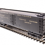 "Broadway Limited 1829 GACX 53'6"" Wood Express Reefer, KCS #1404, Pullman Green, HO"