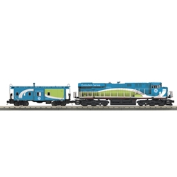 SALE! O RailKing ES44AC Imperial Diesel & Caboose Set - GE Demonstrator